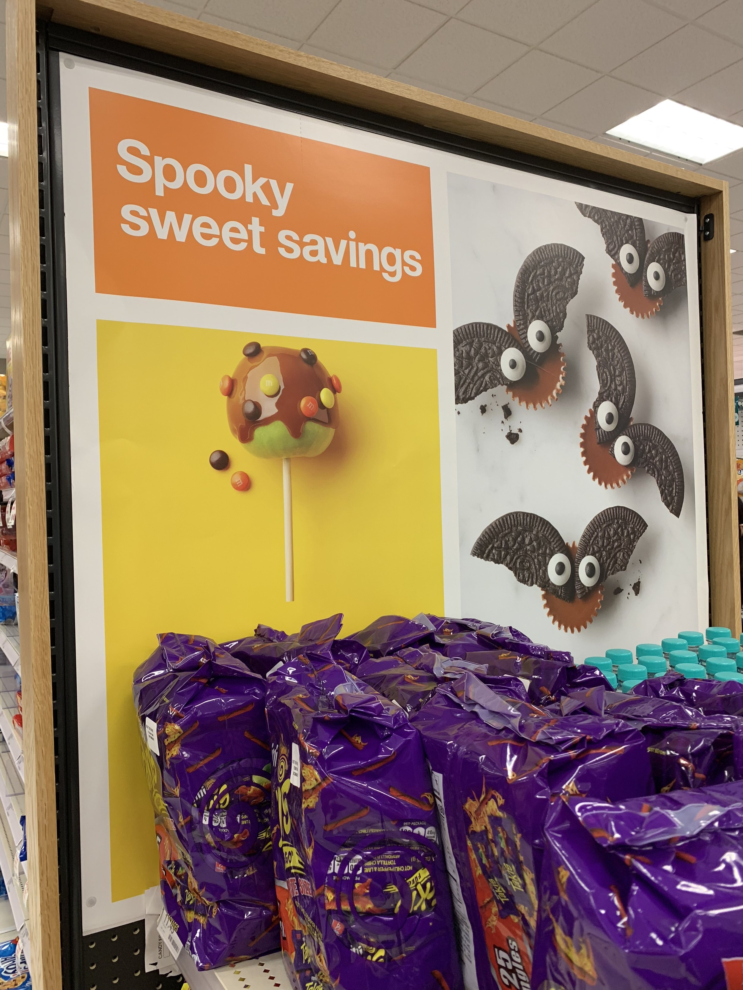 Halloween signage at Target