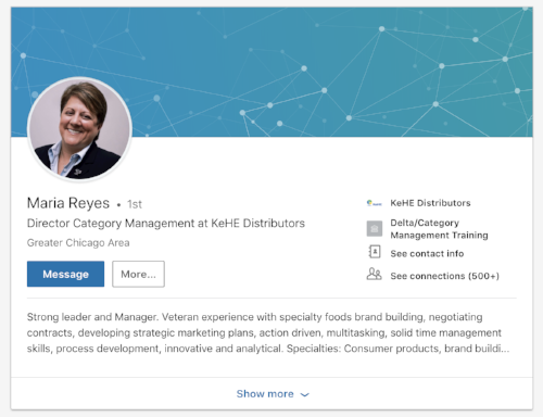 Maria Reyes LinkedIn