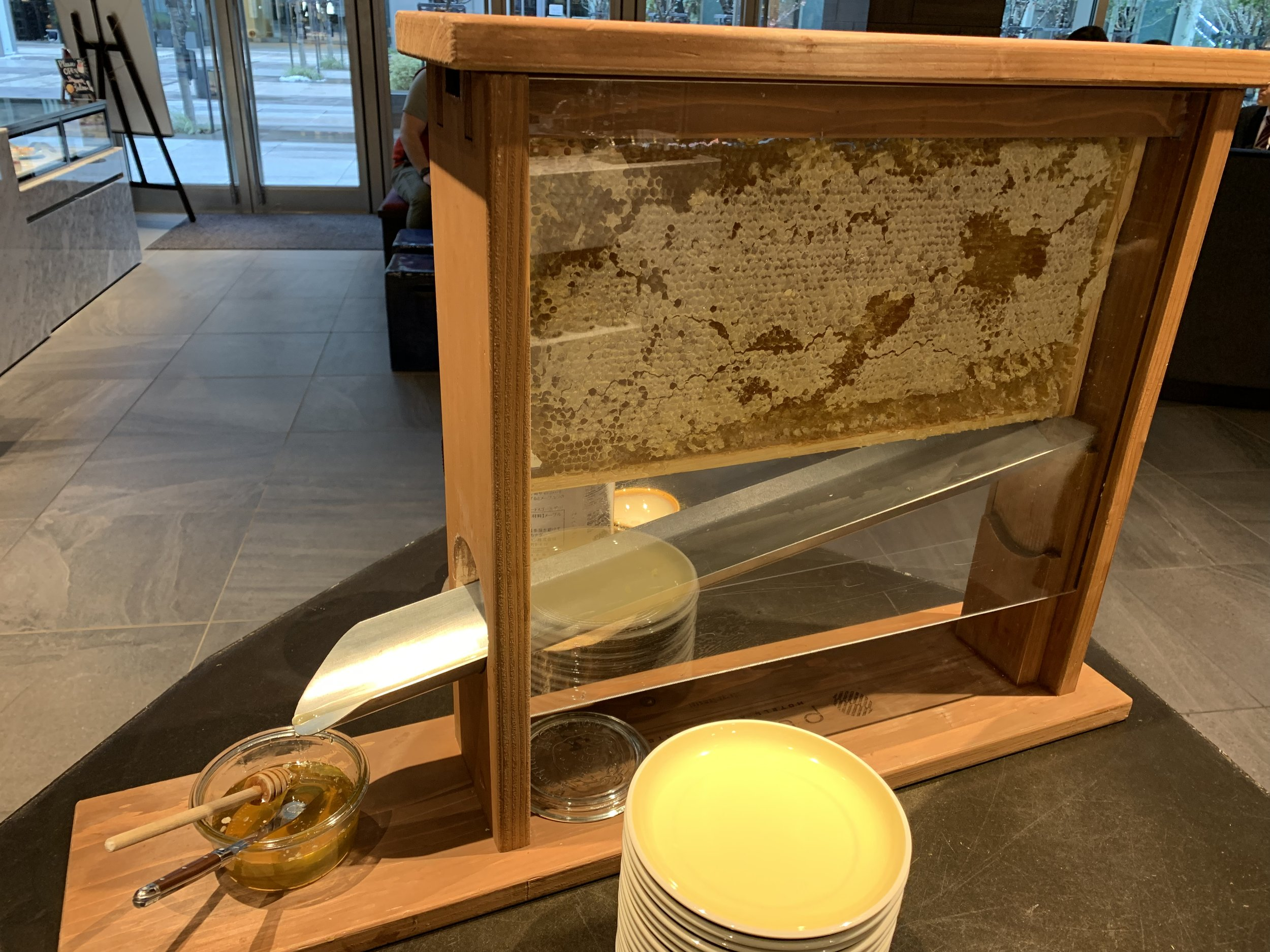 honey display Japan