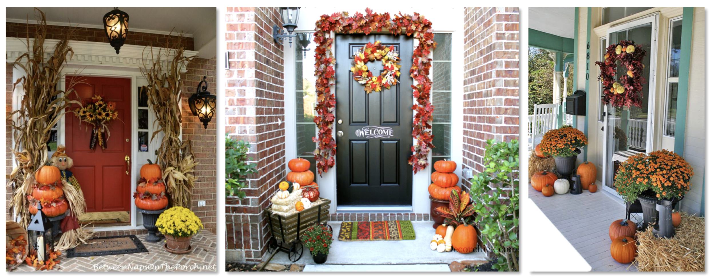 Fall door decor found at American's homes