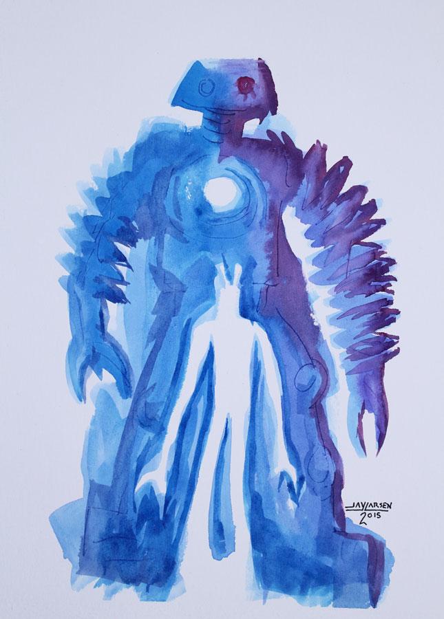 Blue Ghost Robots