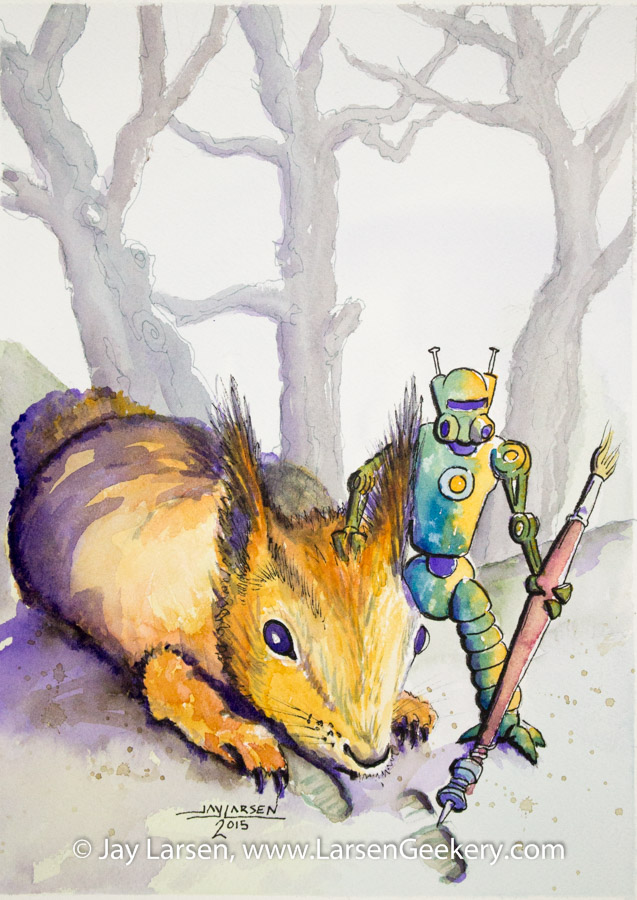 Squirrel with Robot