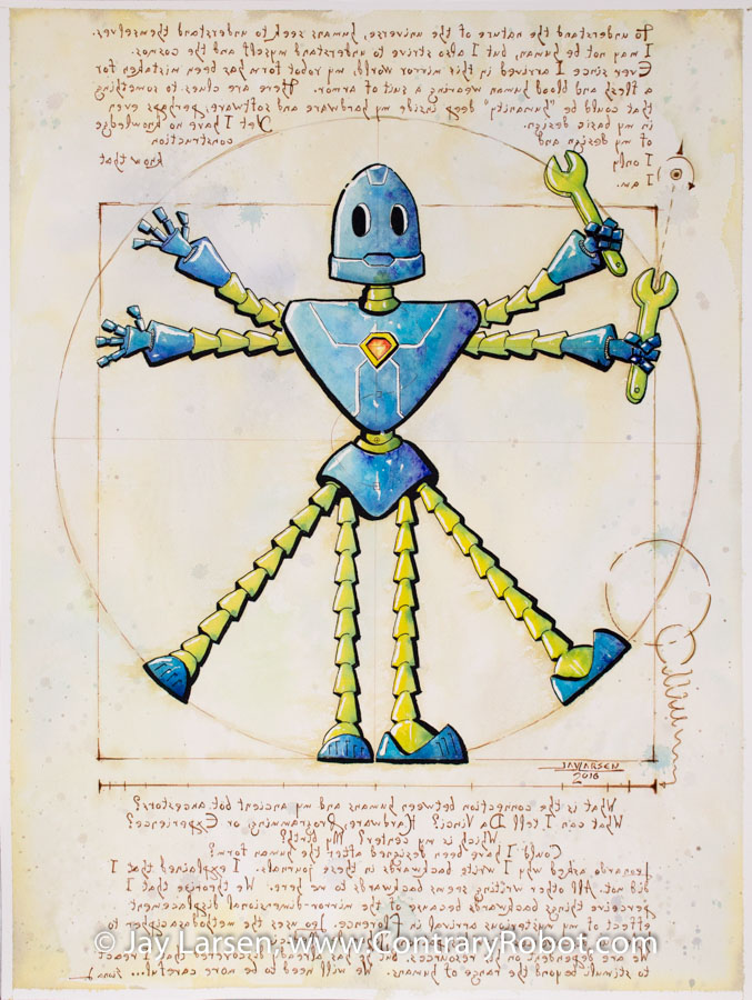 Vitruvian Bot by Jay Larsen