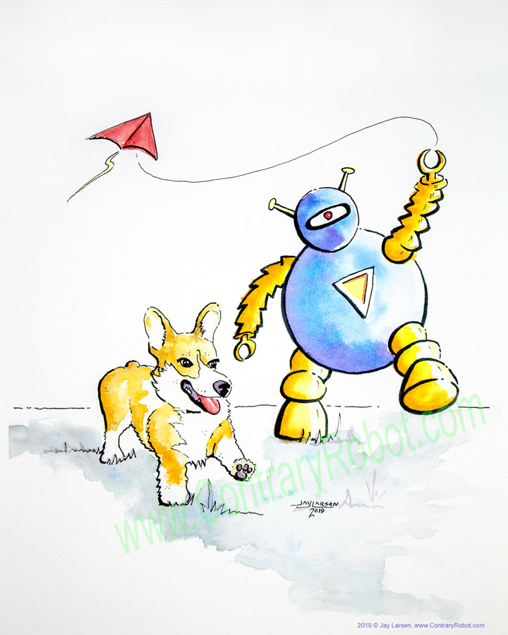 Corgi and Kite Robot