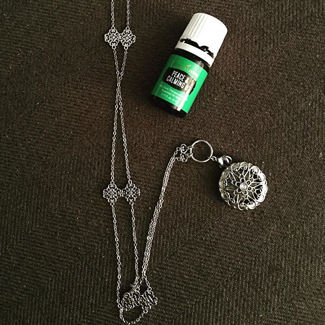 Reloaded my essential oil diffuser necklace with Peace and Calming II #livingtheoilylifestyle #relax #youngliving