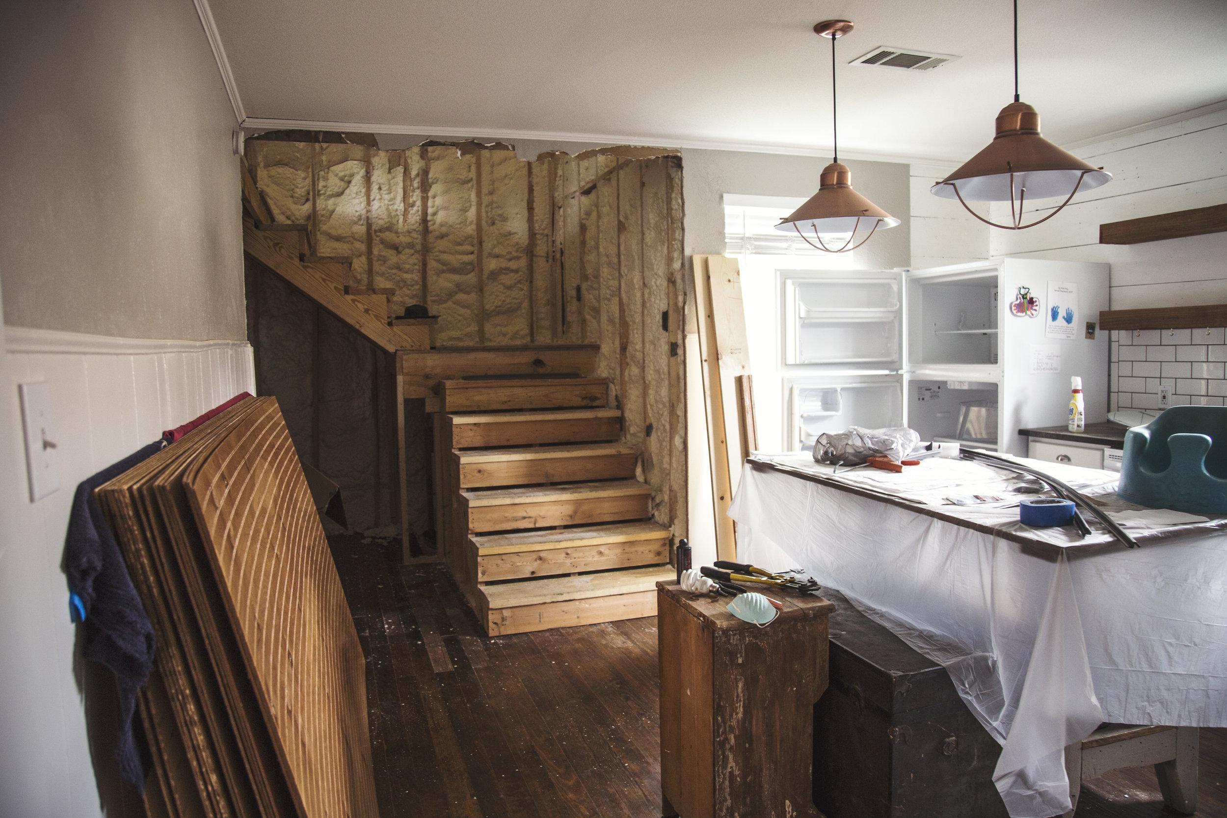 Matt and Alyssa's loft renovation (in progress)