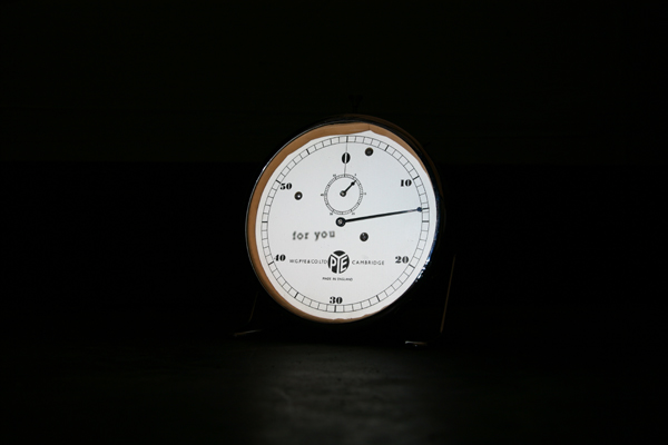 The infinite Line. 2010 (still)  Timer, video, soundwork, song written and performed by artist.  Exhibited as part of 'Dig Down In Time'Man and Eve Gallery London