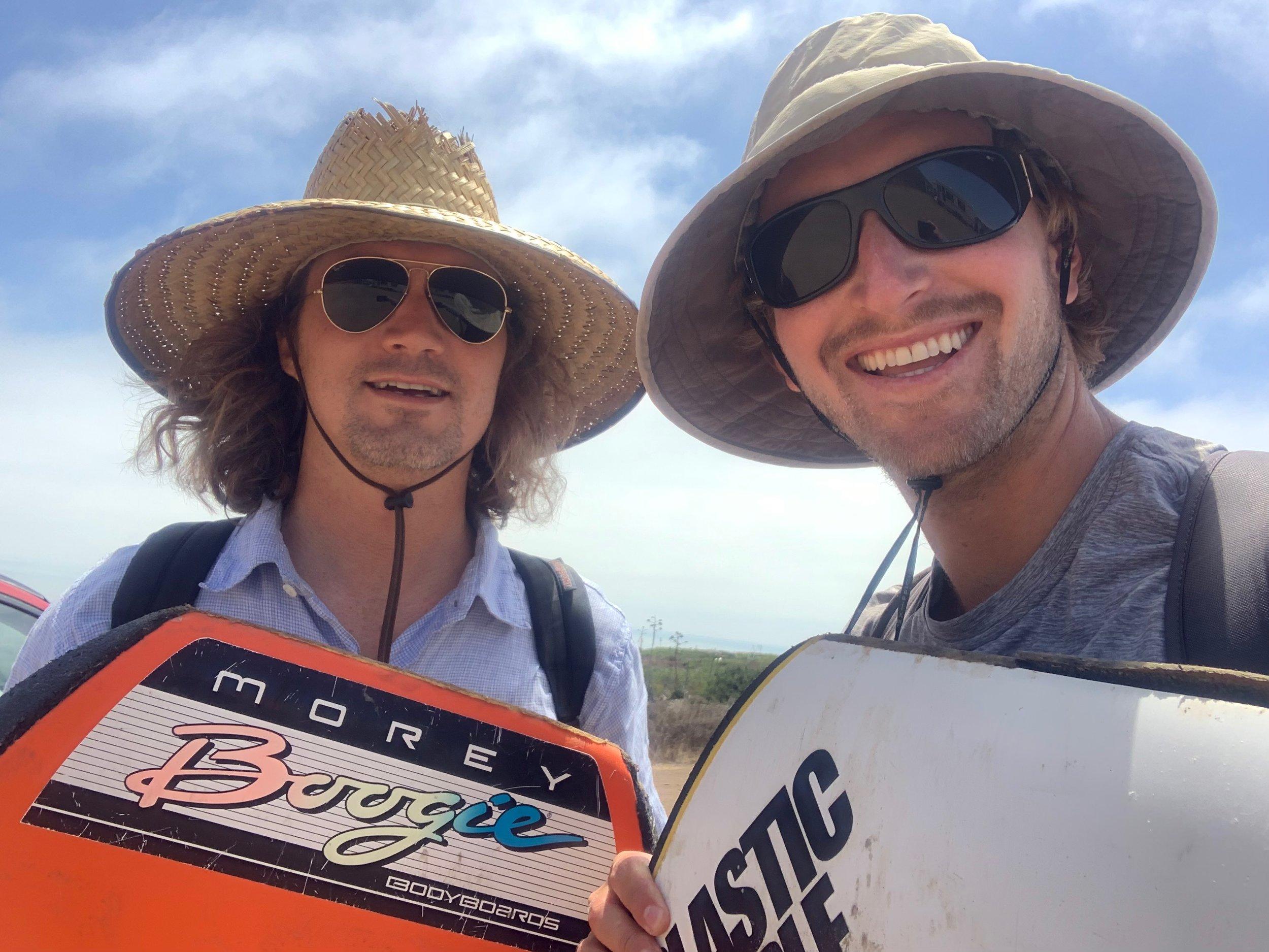 Matt Lamkin and Sebastian Slovin, Getting ready to Boogieboard