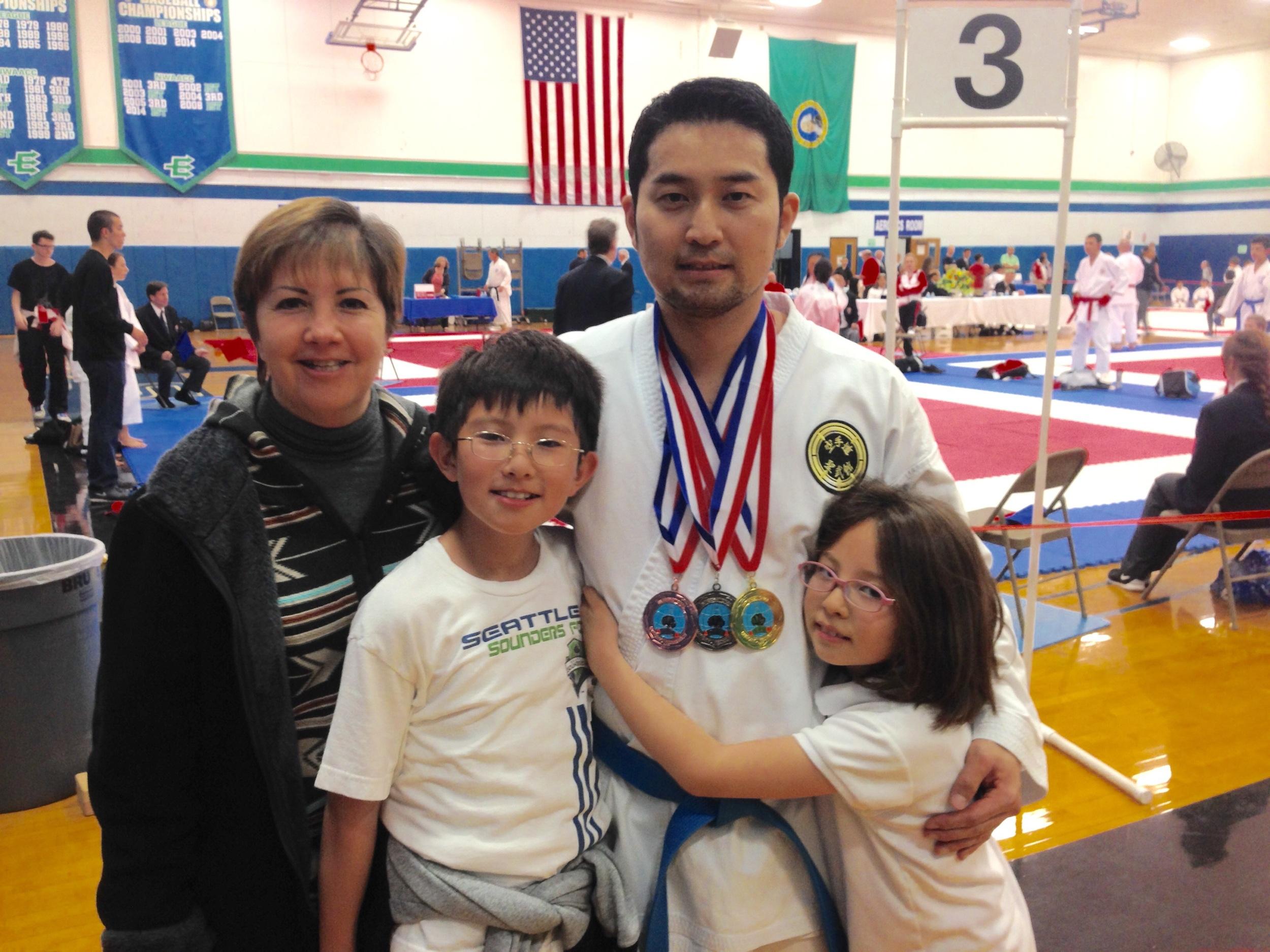 1st Kumite, 2nd kata Kobudo and 3rd Kata Karate.