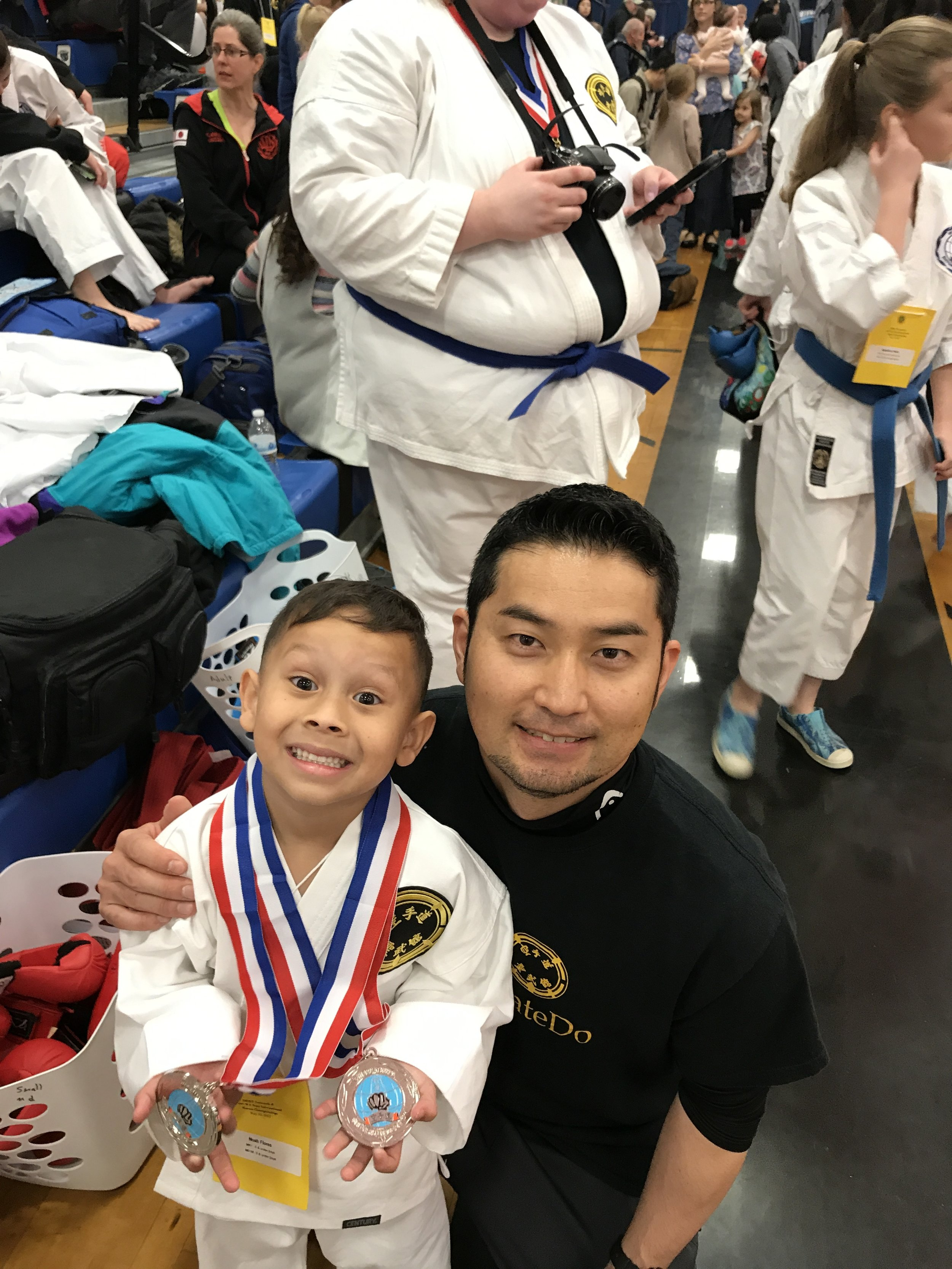 Noah and his two medals!