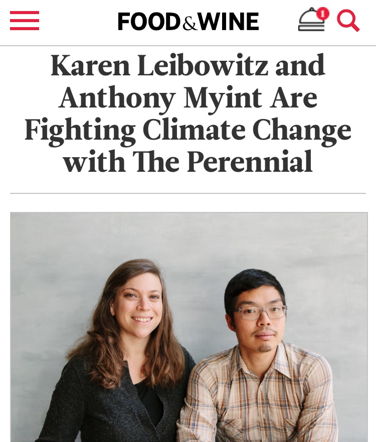 FOOD & WINE: Fighting Climate Change with The Perennial
