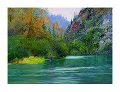 humpy creek acrylic on board