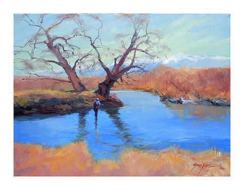 owens creek - bishop, ca 18 x 24 oil on masonite
