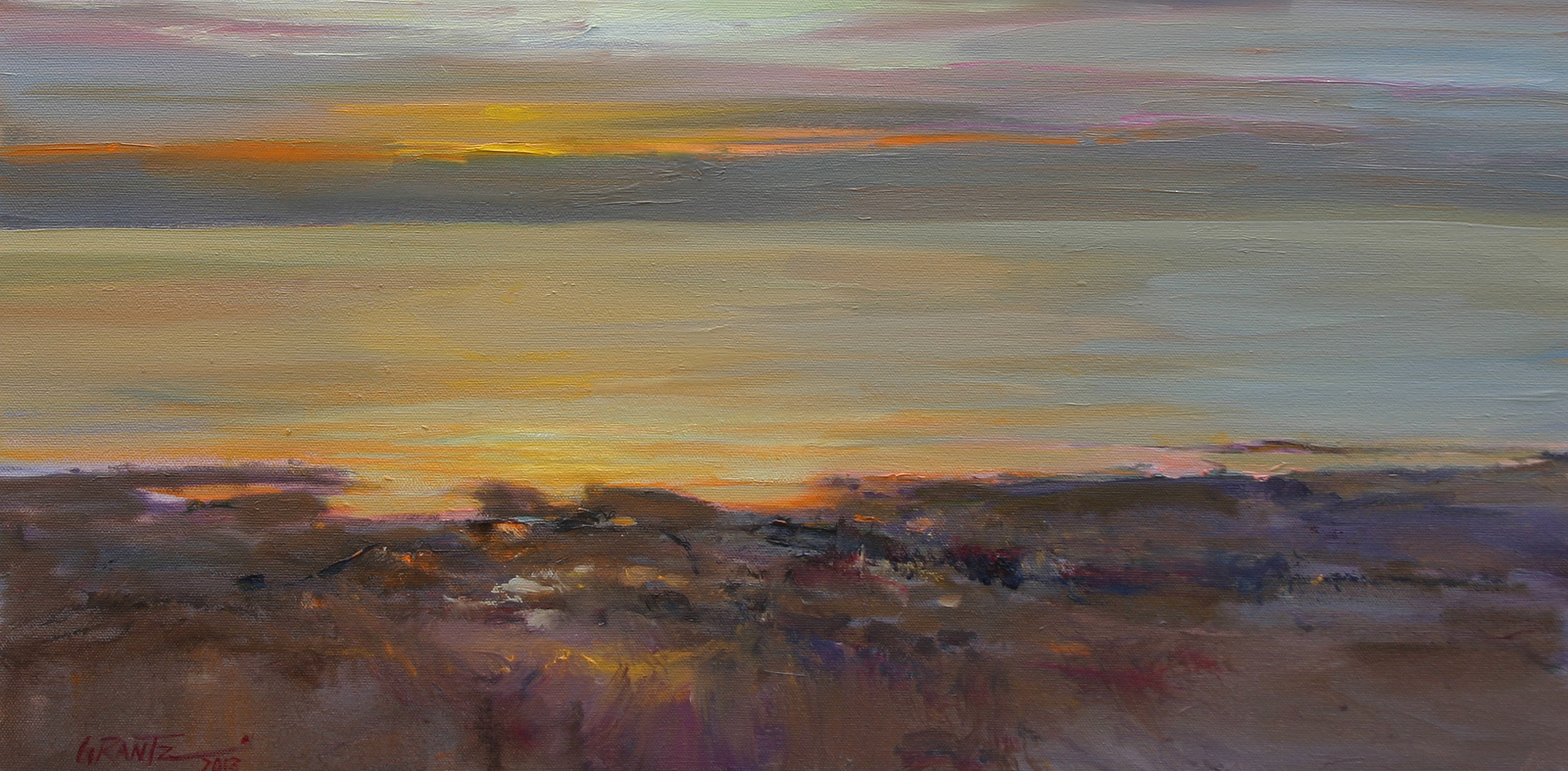 bay sunset 12 x 24 oil   S O L D