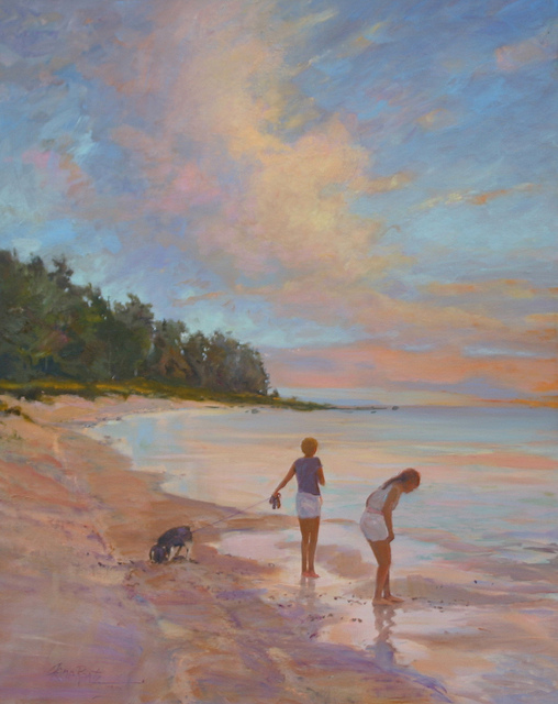 sisters, christmas cove 24 x 30 oil  S O L D