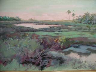 coastal wetlands 13 x 19.5 Litho limited edition print