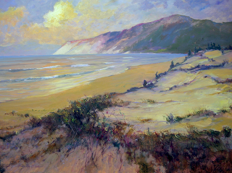 sunset empire dunes 30 x 40 oil -  s o l d