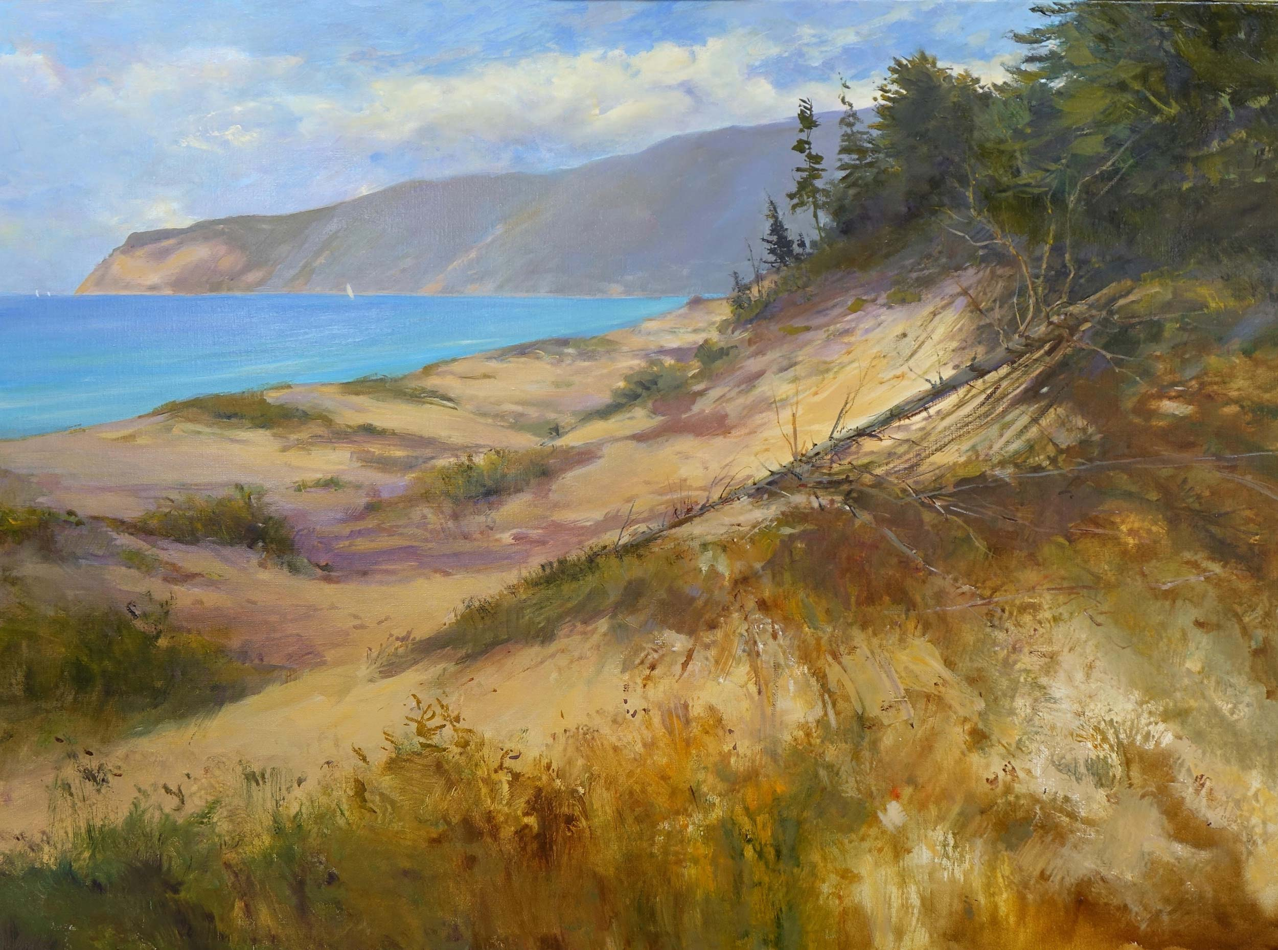 Empire Bluffs 30 x 40 Oil On Canvas - S O L D  (GICLEE AVAILABLE)