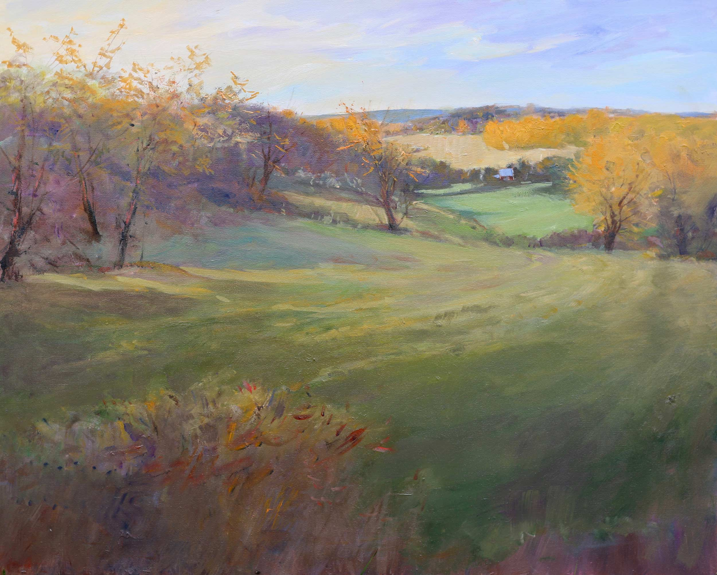 Far Hillside Near Suttons Bay 24 x 30 Oil - Available