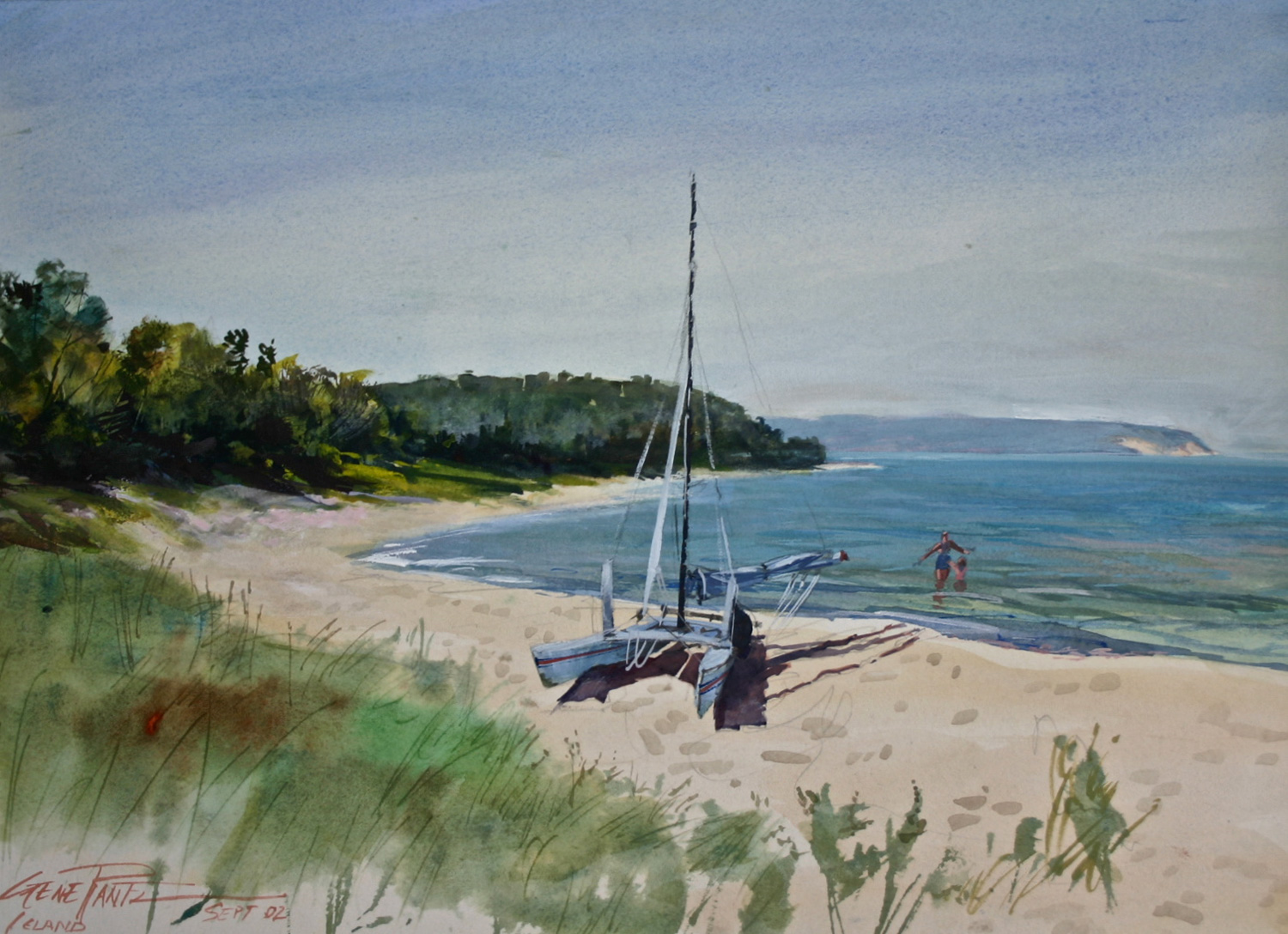 Van's Beach 12 x 16 Watercolor - S o l d