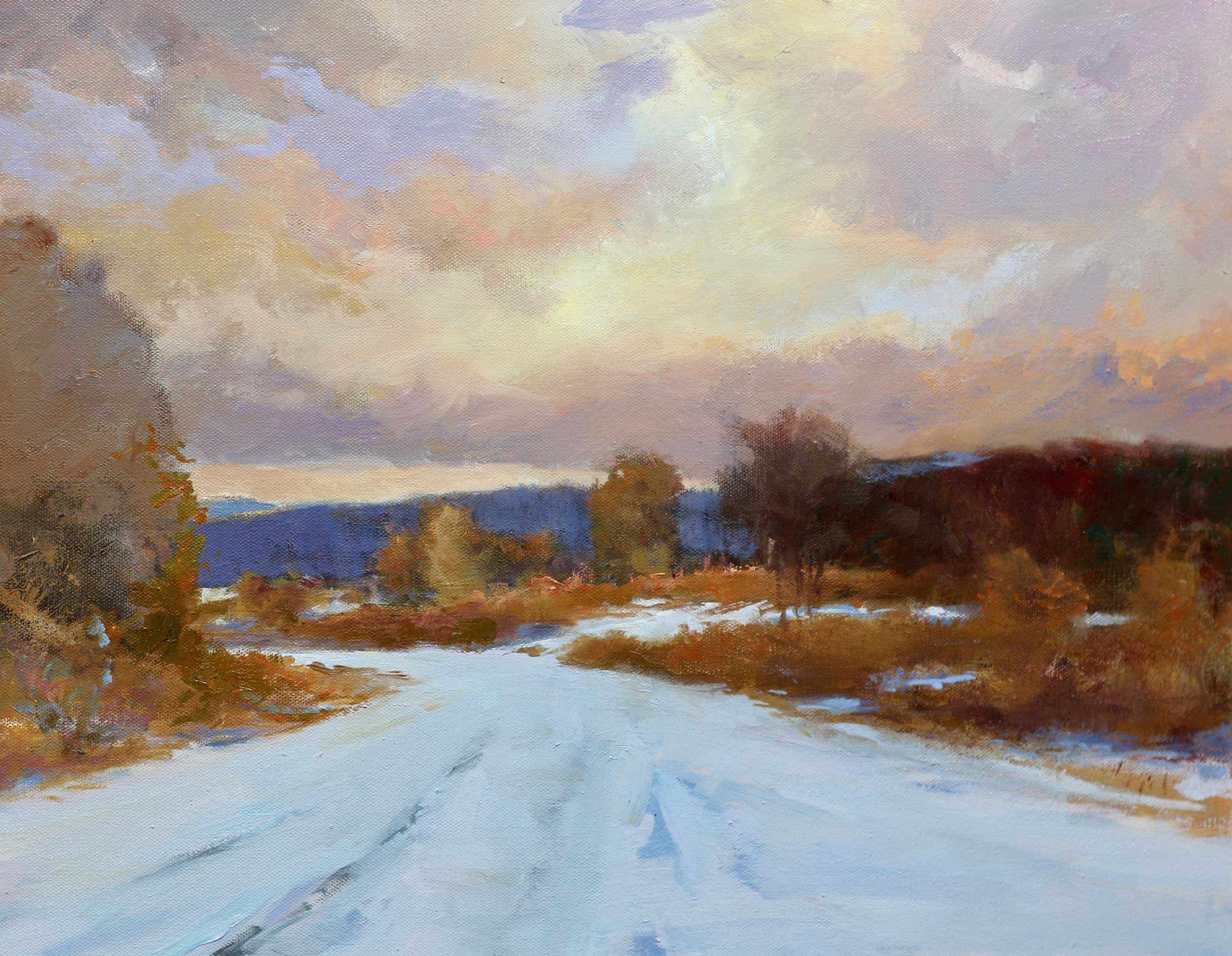 M-22 Winter Sky 16 x 20 Oil - Available