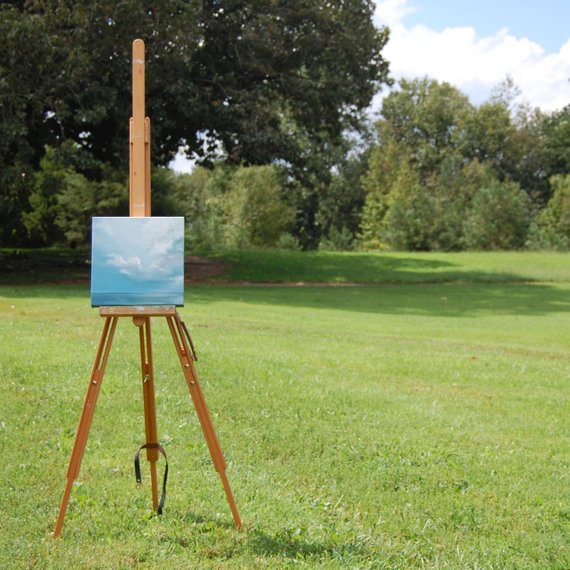 One of my very first paintings sold! - (Photographed on the farm where we lived)