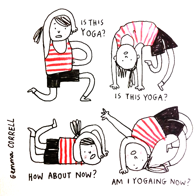cartoon by the hilarious  Gemma Correll