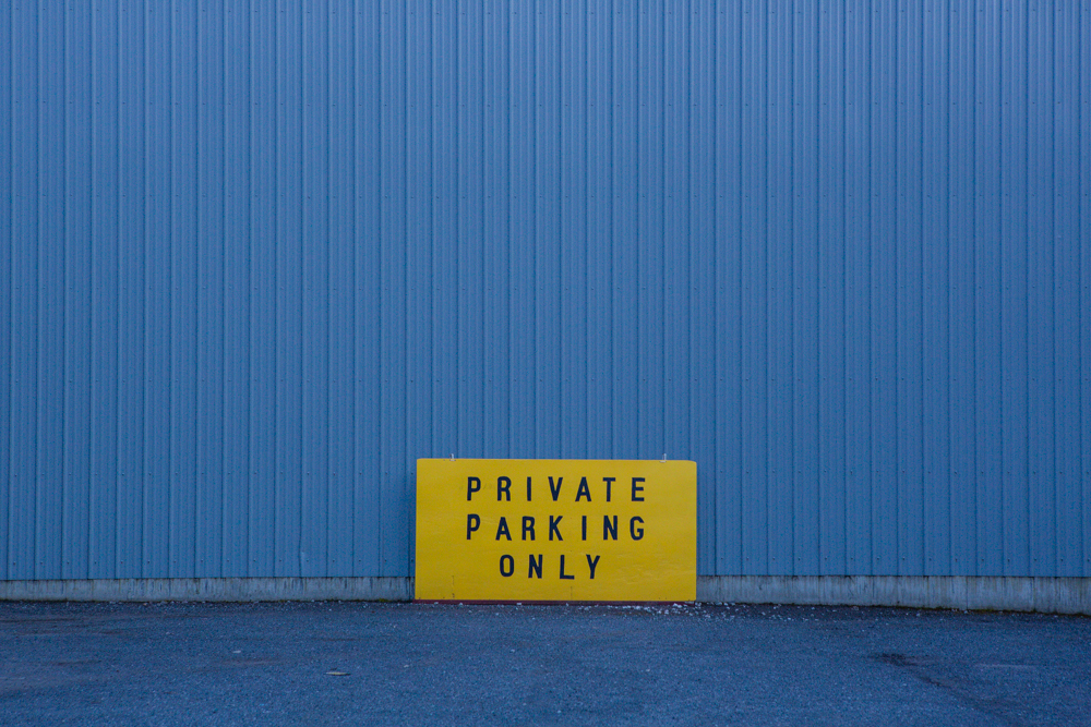 private parking only