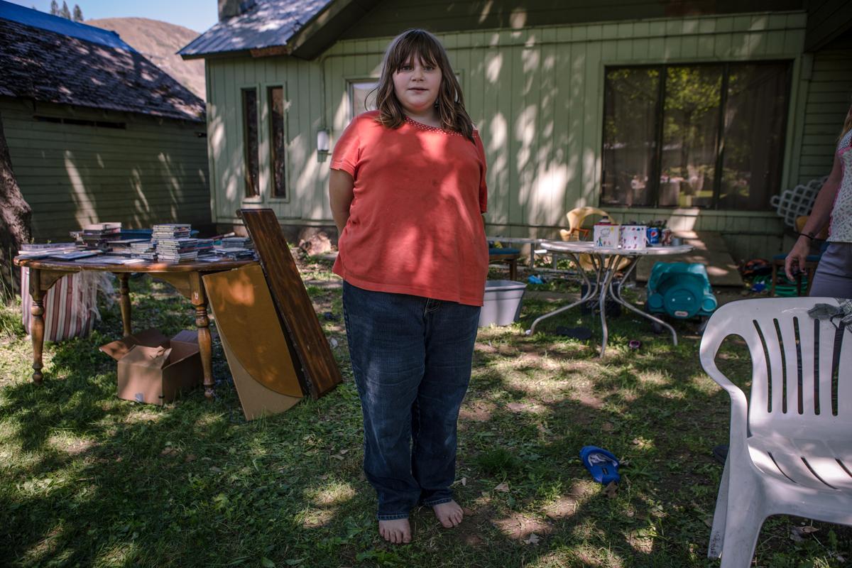 young girl Kooskia, Idaho