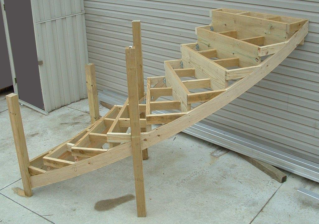 Curved Wood Laminated Stair Stringers