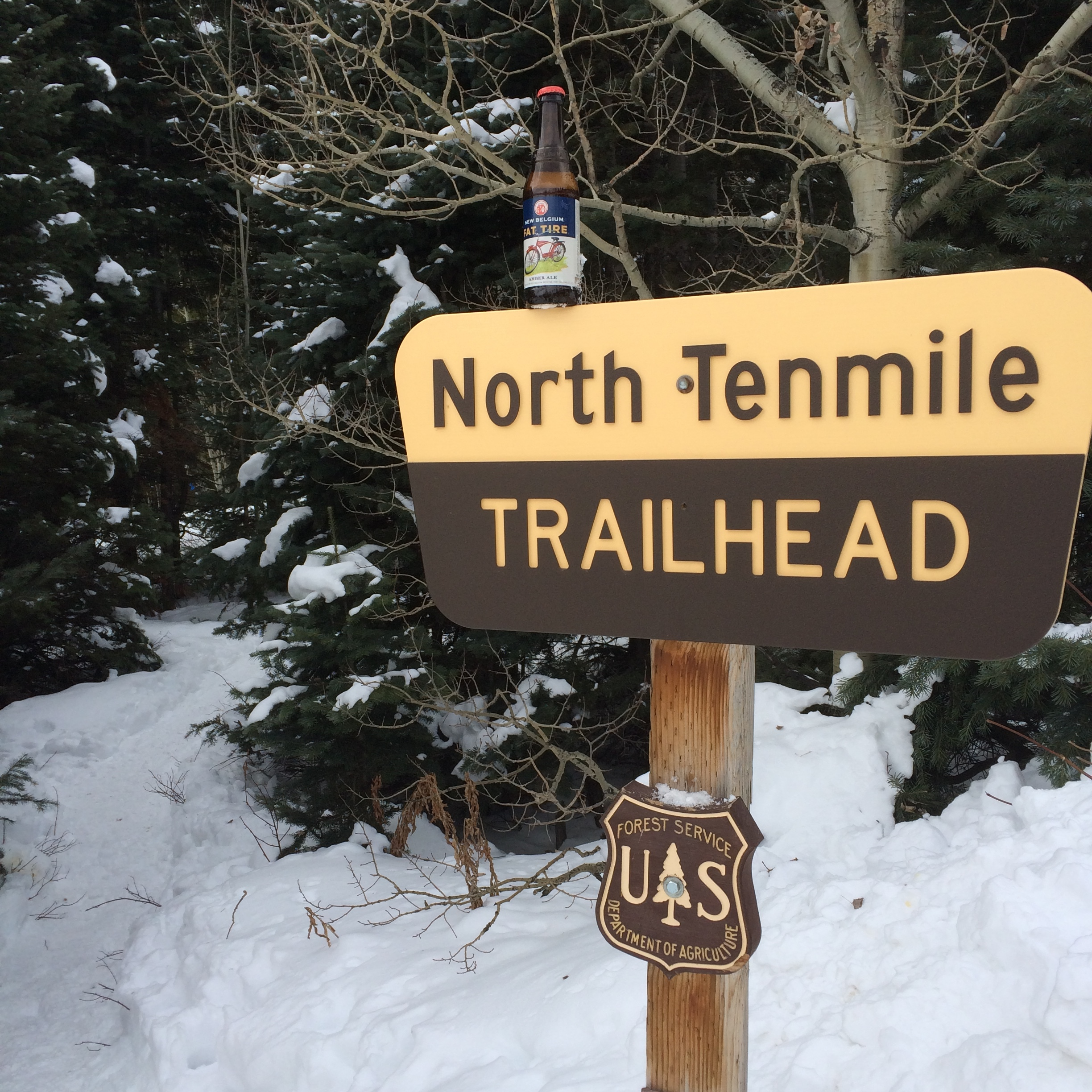 A favorite trail. A favorite beer.
