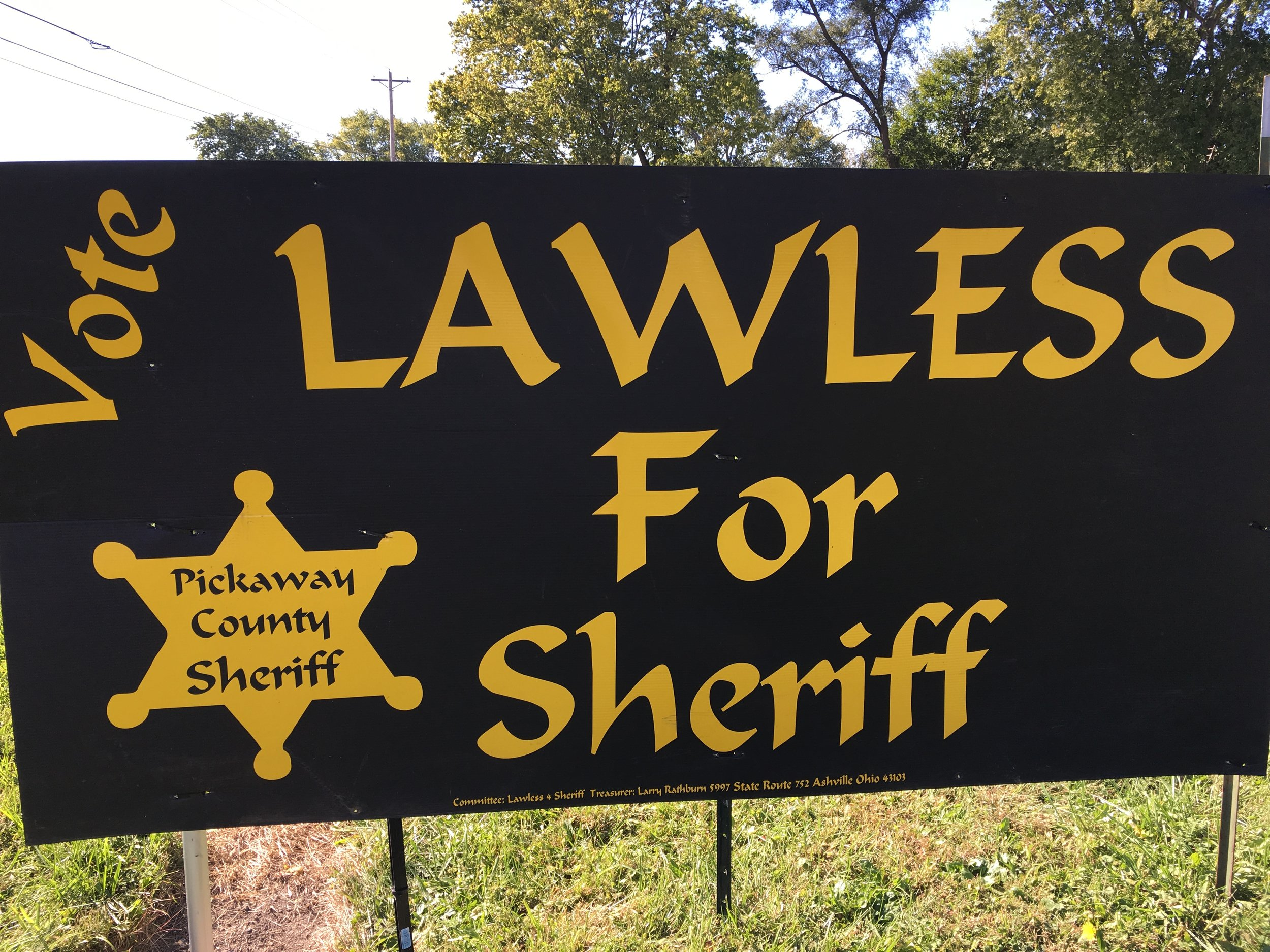 (Hilarious or ominous?)    No more whistling in Mayberry.