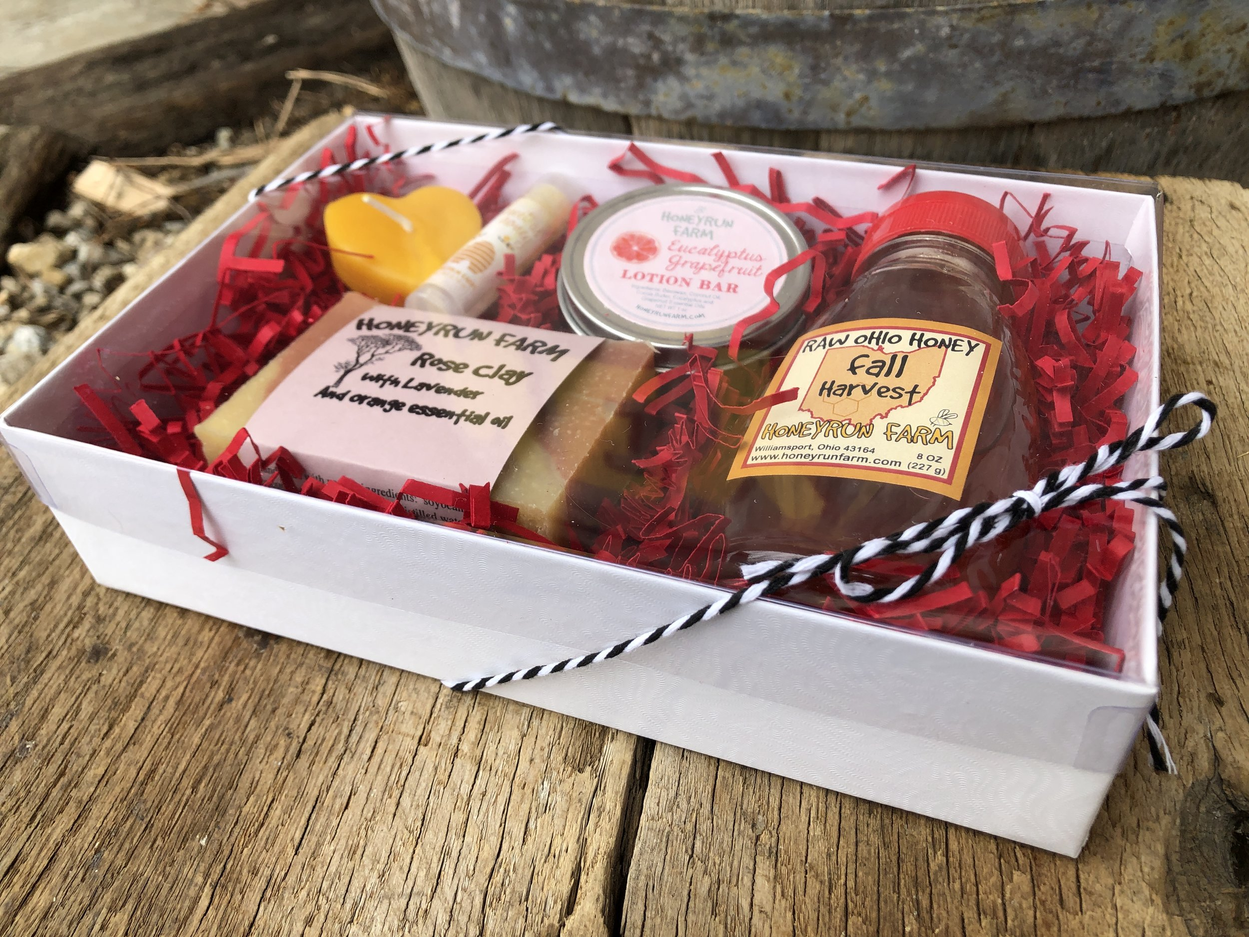 Gift Package For A Valentine Soap Honey Lotion Bar Lip Balm And Heart Candle Honeyrun Farm