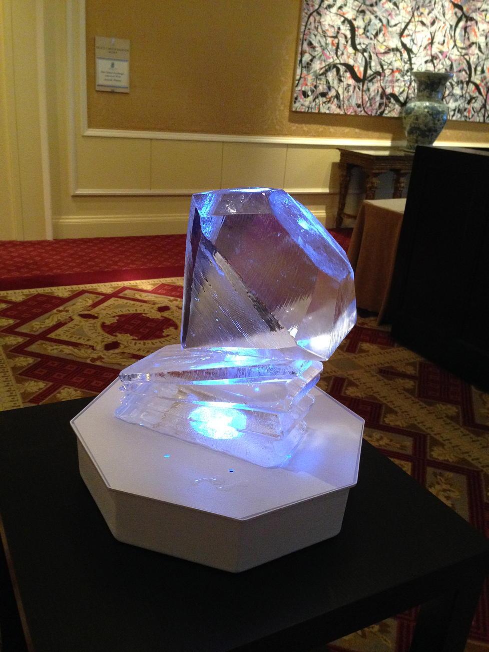 Diamond ice sculpture