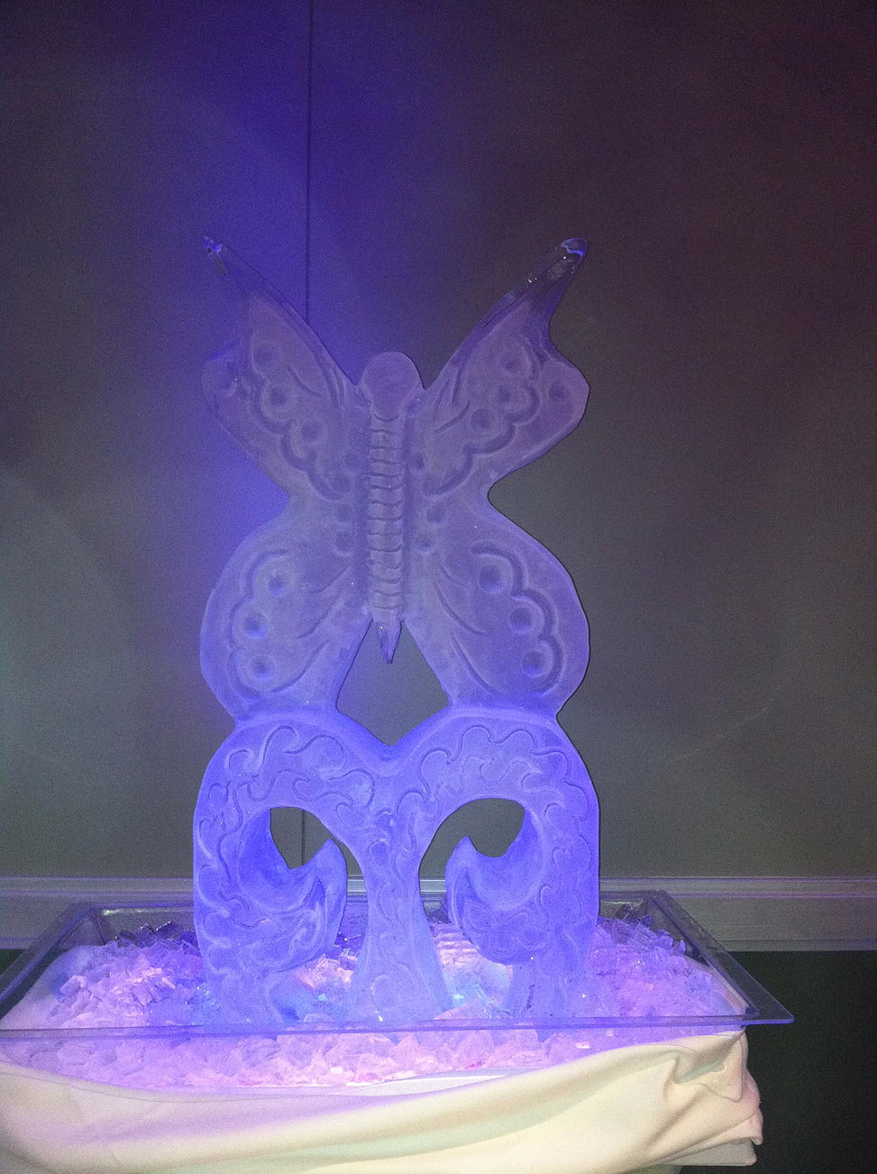 Butterfly ice sculpture