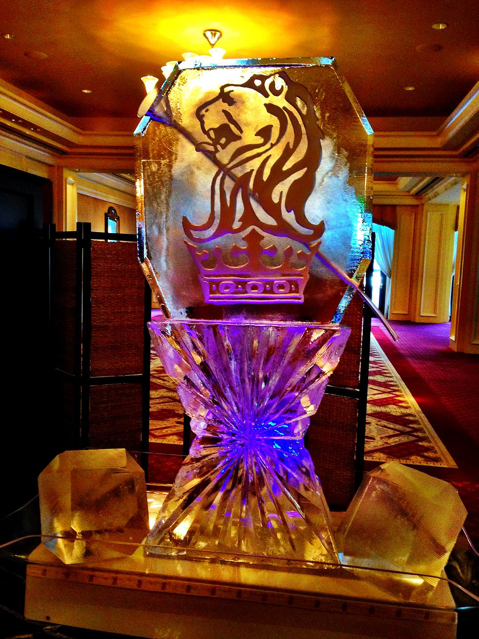 Corporate logo with luge