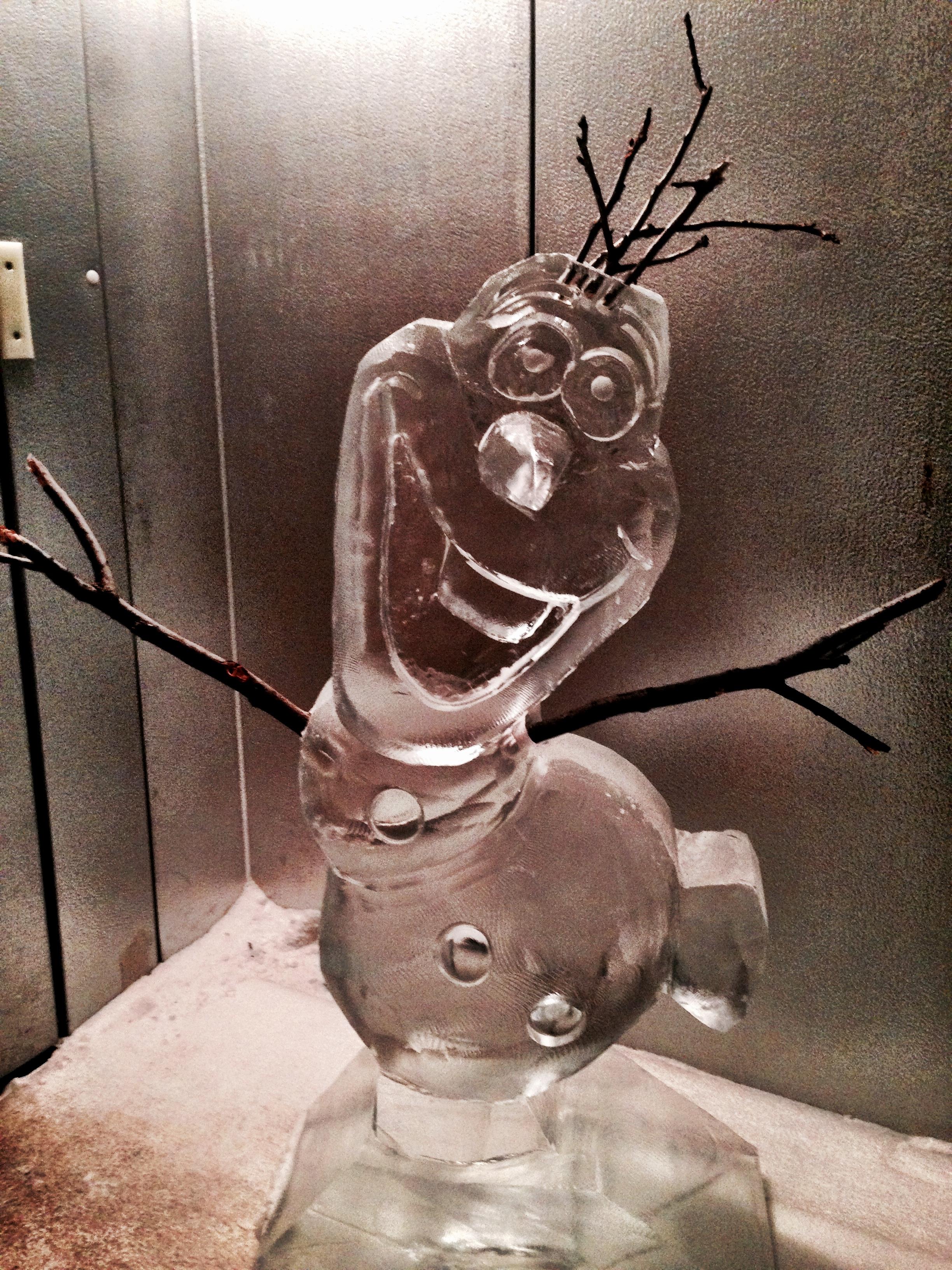 Olaf Ice sculpture
