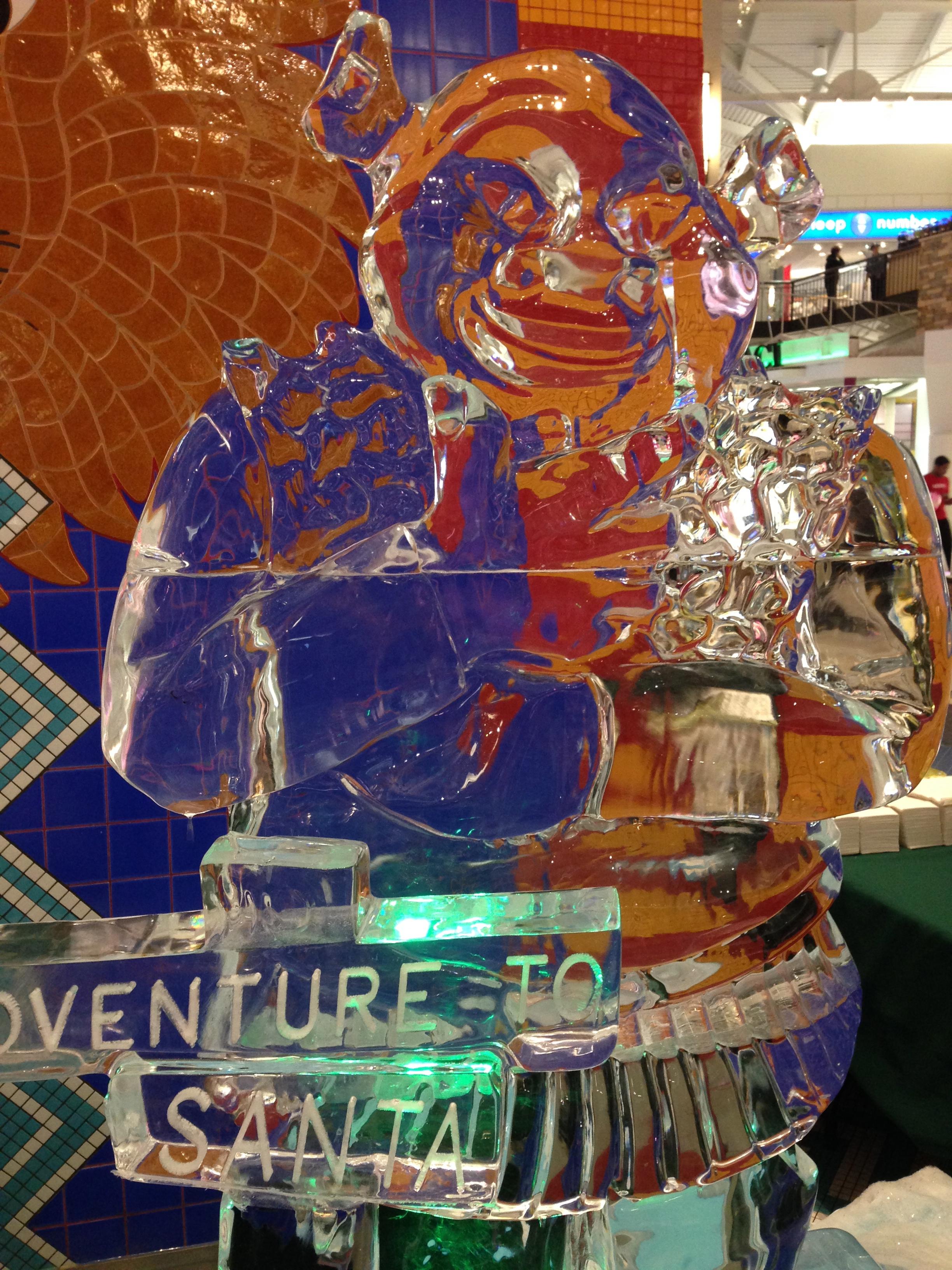 Shrek Ice sculpture