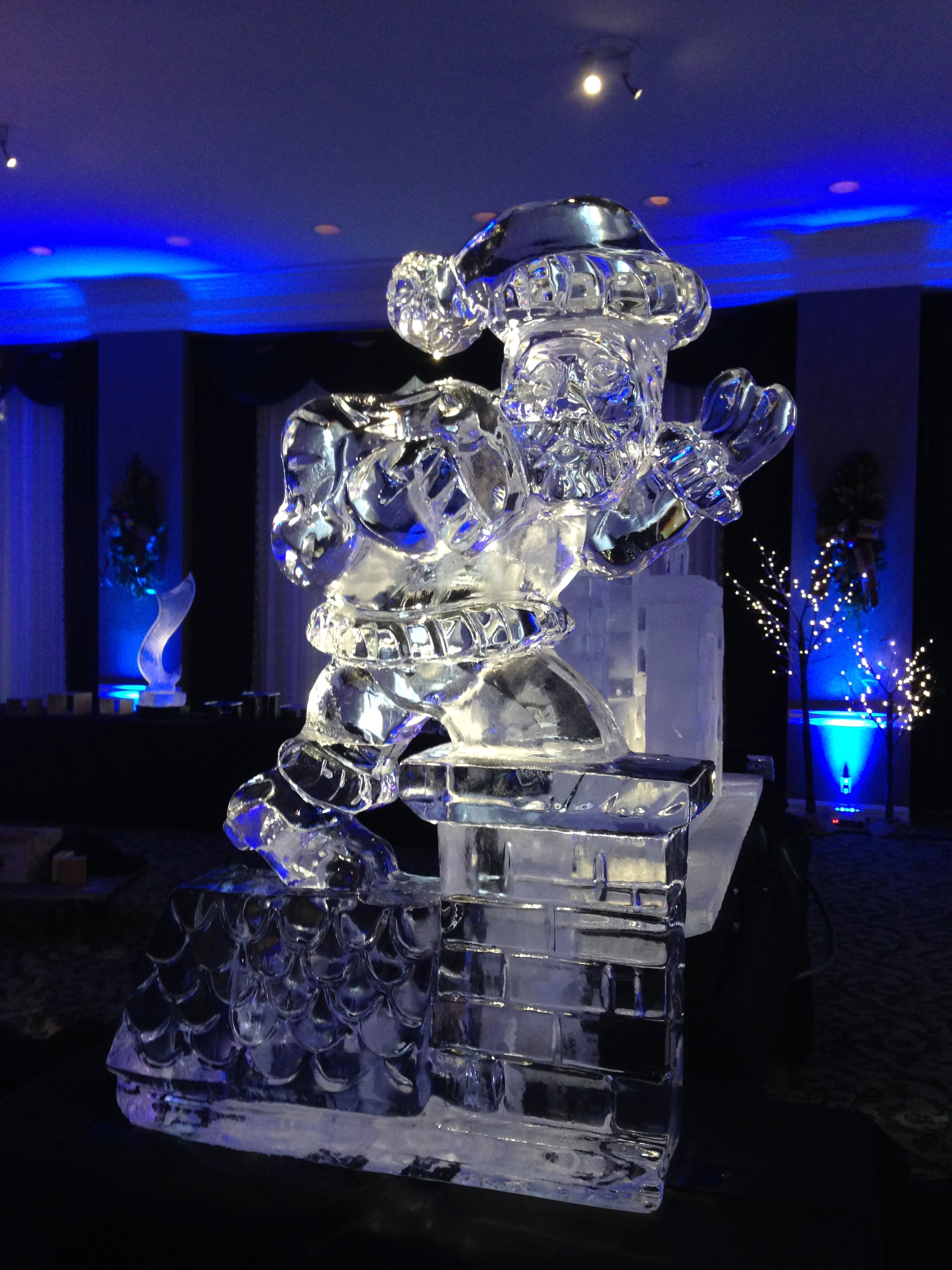 Santa Clause ice sculpture