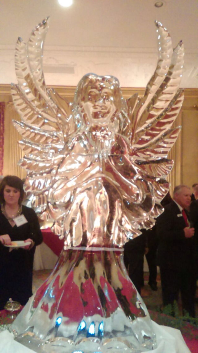 Large angel ice sculpture