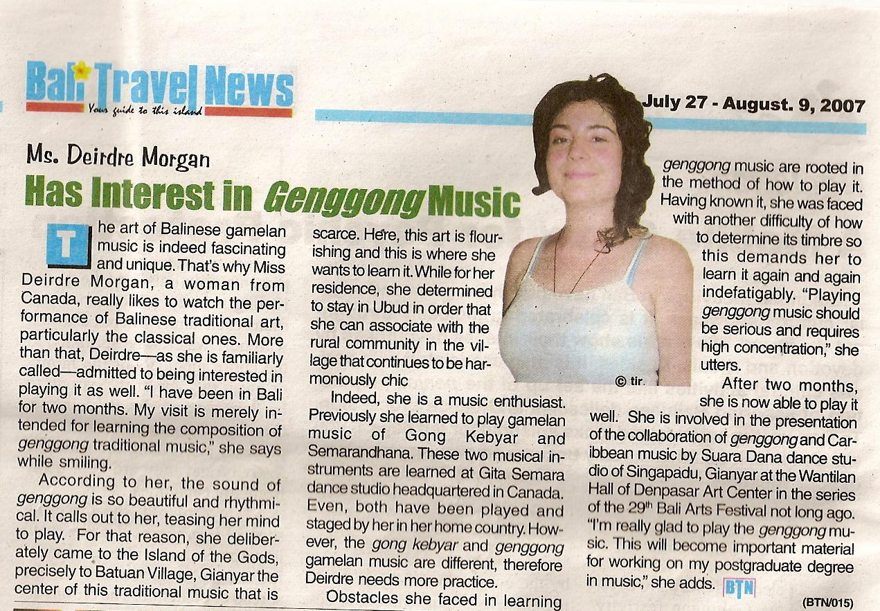Ms. Deirdre Morgan Has Interest in Genggong Music.jpg