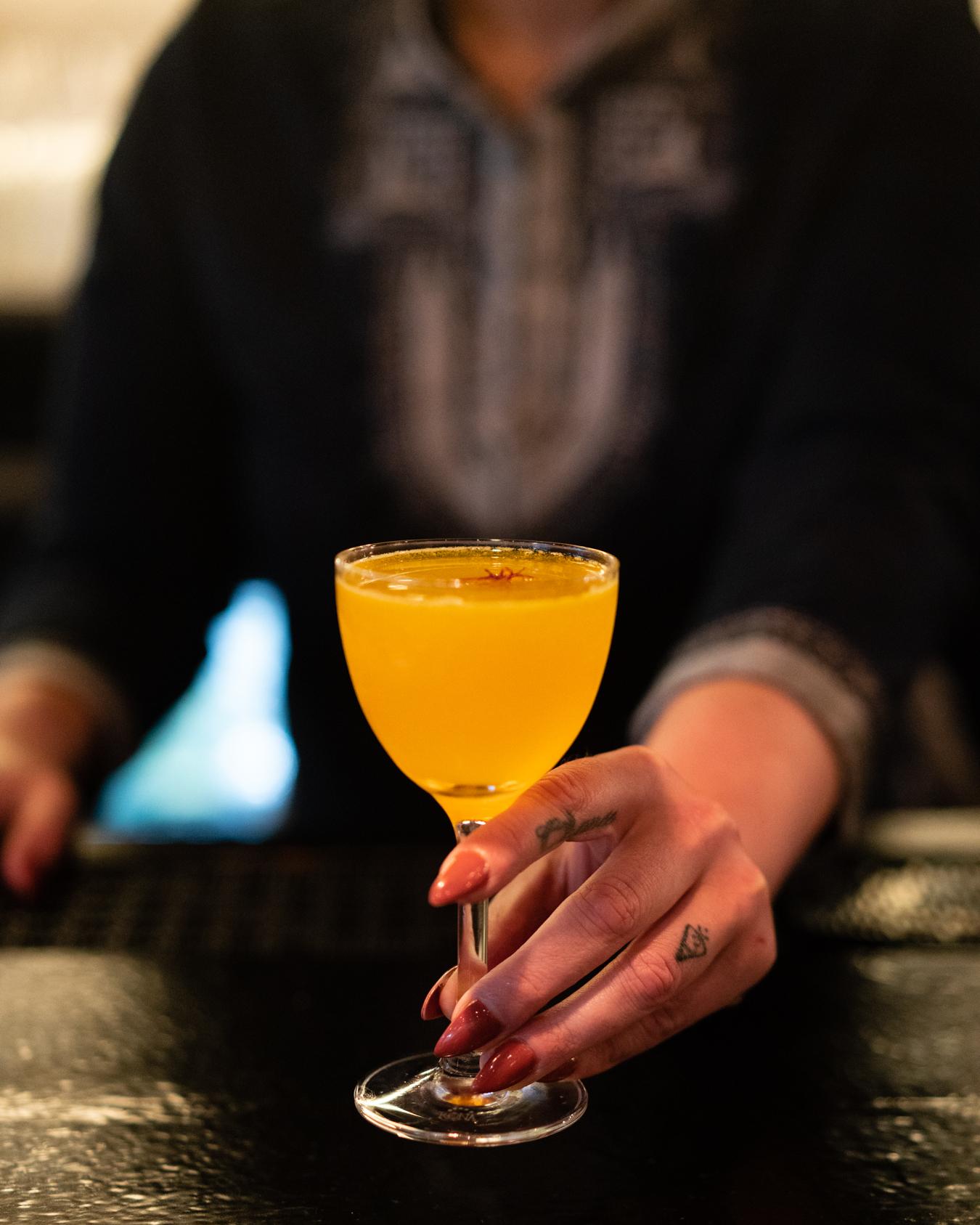 Saffron Cocktail at Berber in Russian Hill