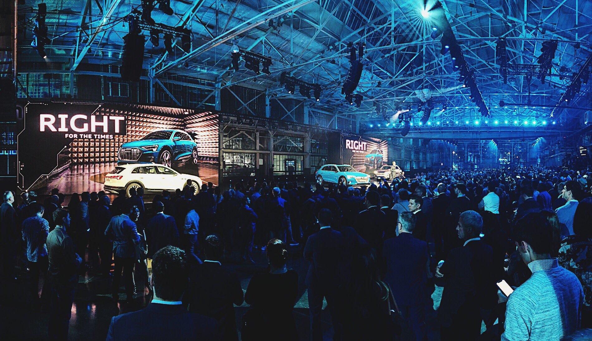 Audi e-tron world premiere event in San Francisco