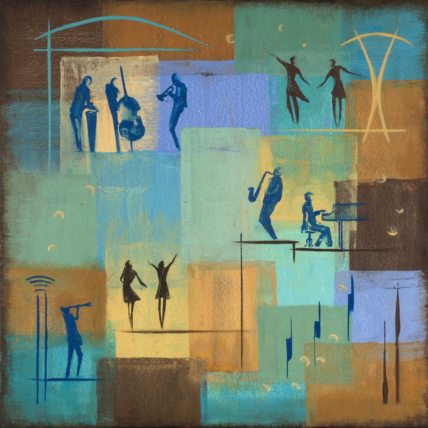 """Dance The Night Away 14.5"""" x 14.5"""" Sold; Giclée prints available"""
