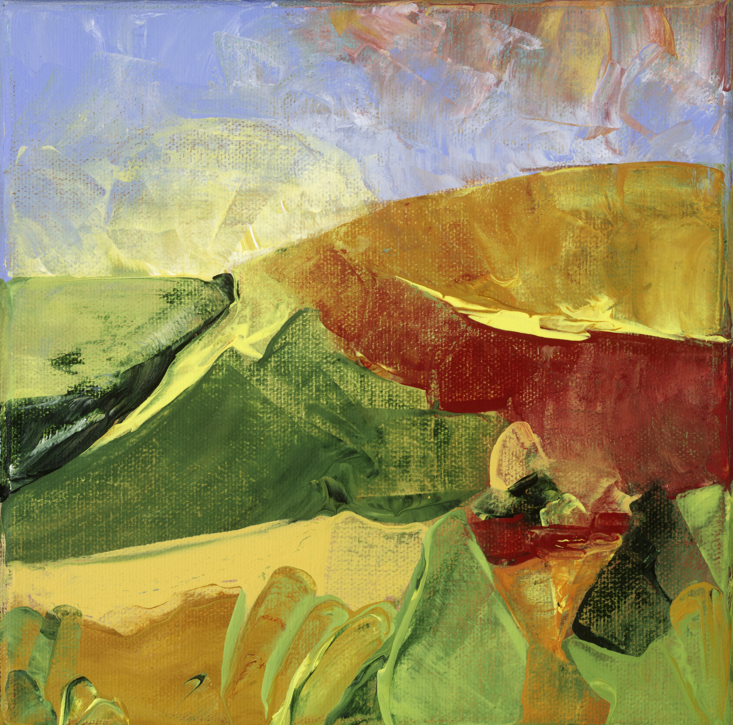 """Sonoma Abstracted III 8"""" x 8"""" Sold; Giclée prints available"""