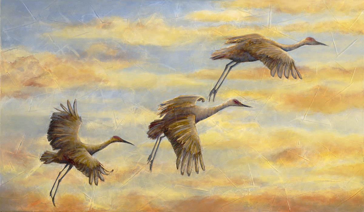 "Morning Flight 28"" x 48"" Sold; Giclée prints available"