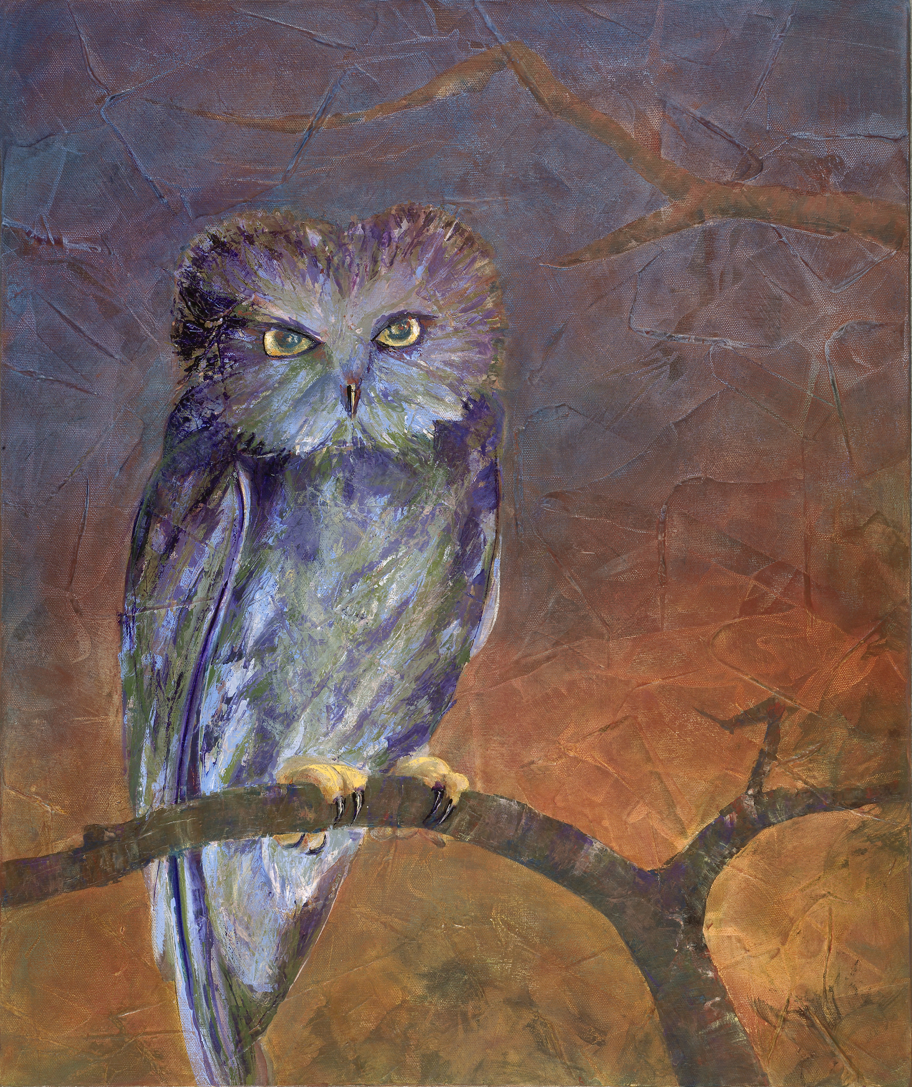 "Night Owl 24"" x 20"" Sold; Giclée prints available."
