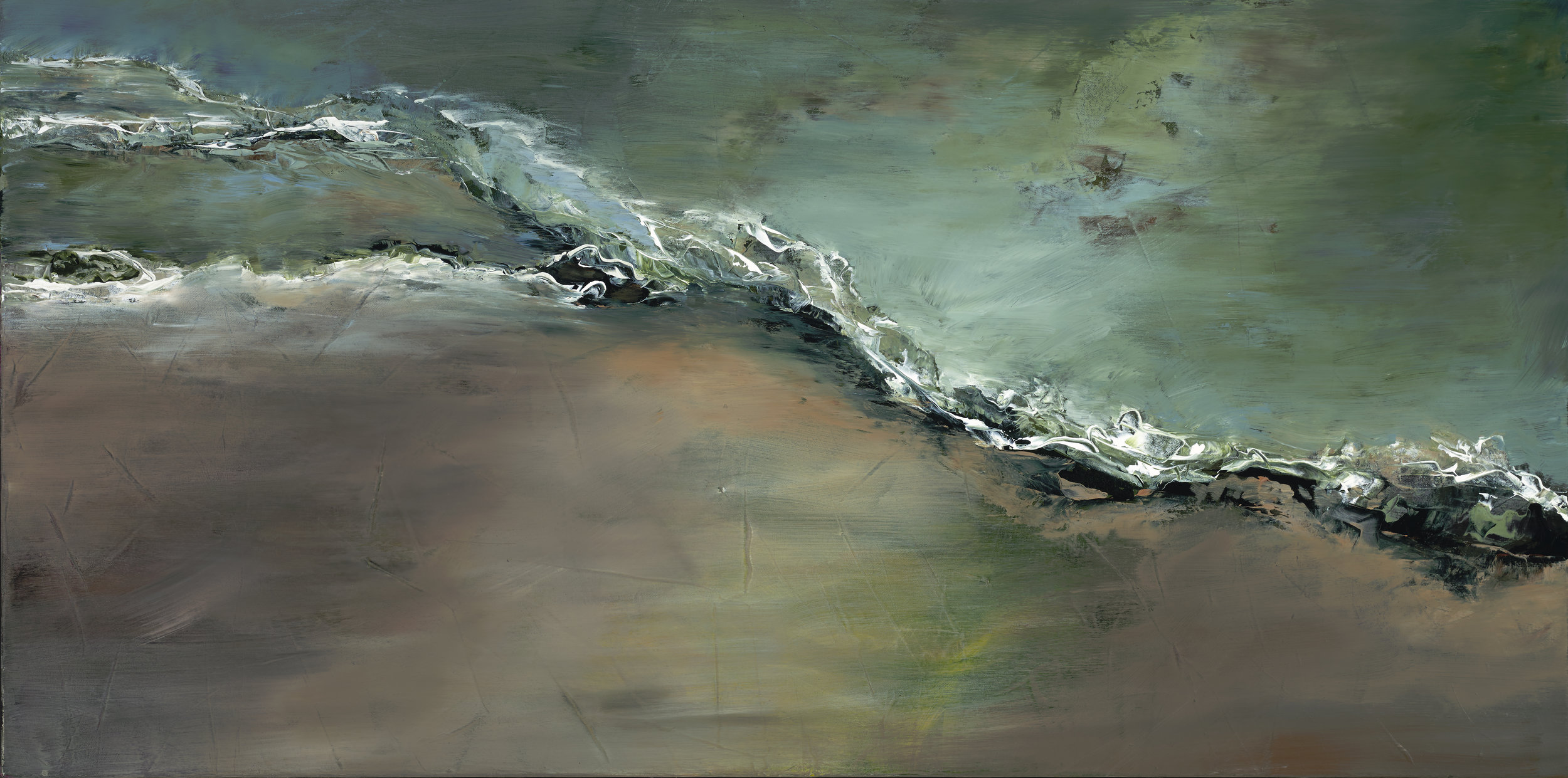 """Dual Nature 24"""" x 48"""" $2200—SOLD"""