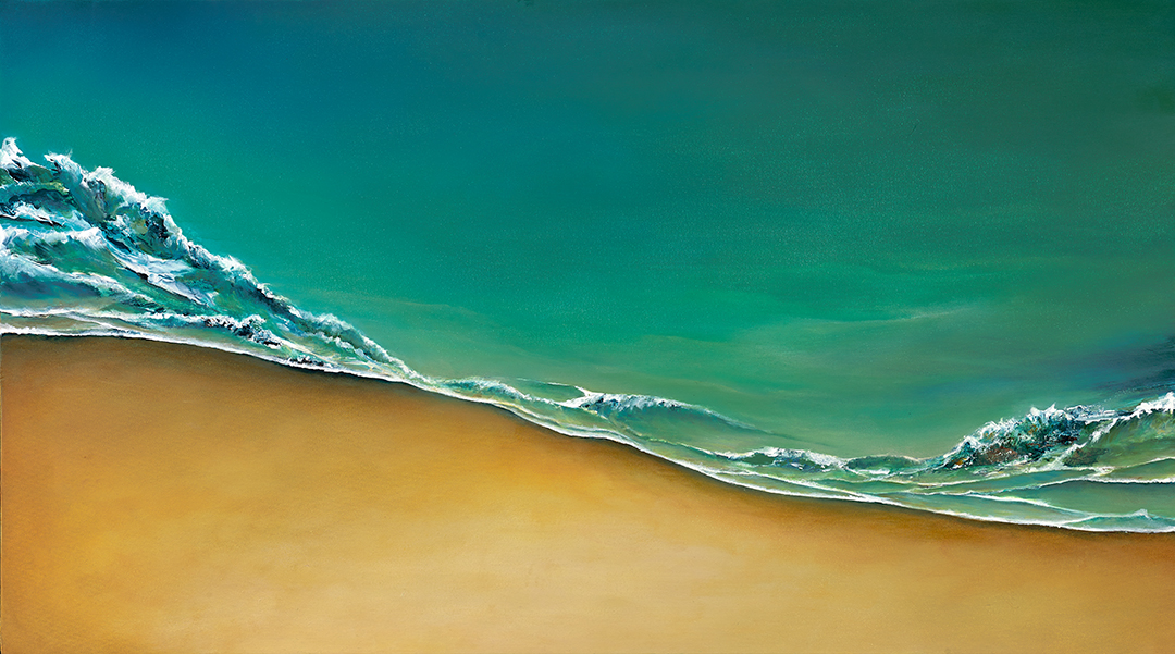 """Waterscape 28"""" x 50"""" $2675—SOLD"""