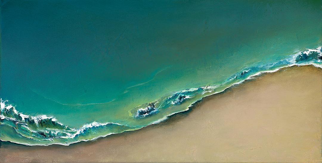 """Beach Blues 12"""" x 23"""" $525"""